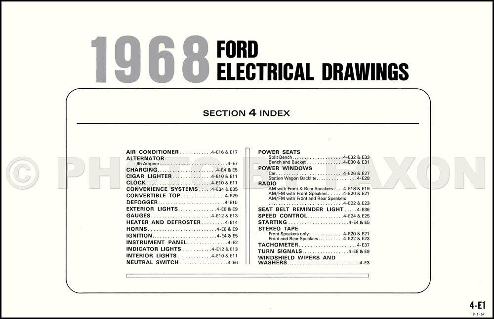 1968 ford wiring diagram 68 galaxie ltd 500 xl custom electrical rh ebay com