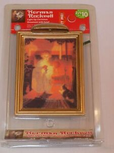 Norman-Rockwell-Light-Up-Christmas-Ornament-Holiday-Child-Waiting-4-Santa-Claus