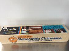 Original Sunline Indoor/Outdoor Retractable Clothesline 15-7  34 ft. New NIB
