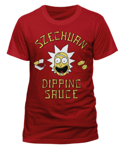 NEW /& OFFICIAL! Rick And Morty /'Szechuan Sauce/' T-Shirt