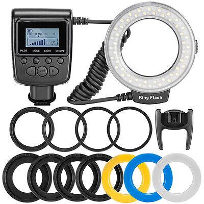 New Macro LED Ring Flash Light RF550D for Nikon Canon Olympus DSLR Camera USA