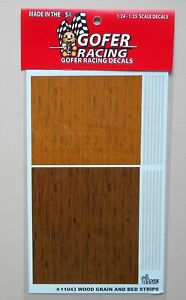 WOOD-GRAIN-and-BED-STRIPS-1-24-1-25-GOFER-RACING-DECALS-CAR-MODEL-11043