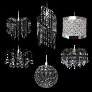 Multi jewel pendant lamp shade 6 styles light teardrop ceiling la imagen se est cargando cortina de lampara de multiples joya colgante 6 aloadofball Images