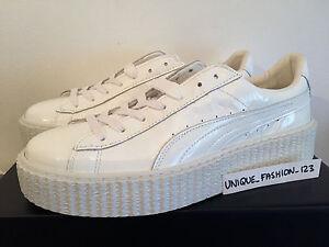 abbf537085a3 PUMA FENTY RIHANNA CREEPERS UK 4 5 6 7 8 TRIPLE WHITE GLO PATENT ...