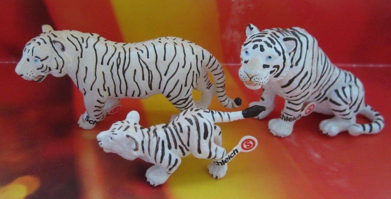 Schleich Schleich Schleich Weißer Tiger 14097 Tigerin 14098 Baby 14093 mit Fahne RAR bb031f