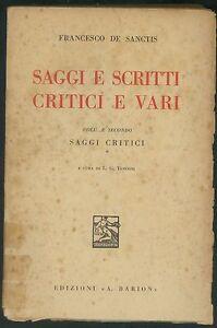 SAGGI E SCRITTI CRITICI E VARI-VOL. SECONDO -L. G. TENCONI -EDIZ. A. BARION 1936 - Italia - SI ACCETTA LA RESTITUZIONE DELL'OGGETTO SE NON CONFORME ALLA DESCRIZIONE,ENTRO 14 GIORNI DALL'ACQUISTO,LE SPESE DI SPEDIZIONESONO A CARICO DELL'ACQUIRENTE. - Italia