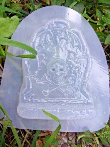 "Free standing mini Tombstone mold w// bat poly plastic mould   5.5/""H x 4/"" W"