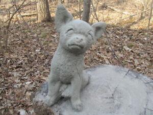 8-034-Tall-Cement-Chihuahua-Dog-Garden-Art-Statue-Concrete-Super-Cute