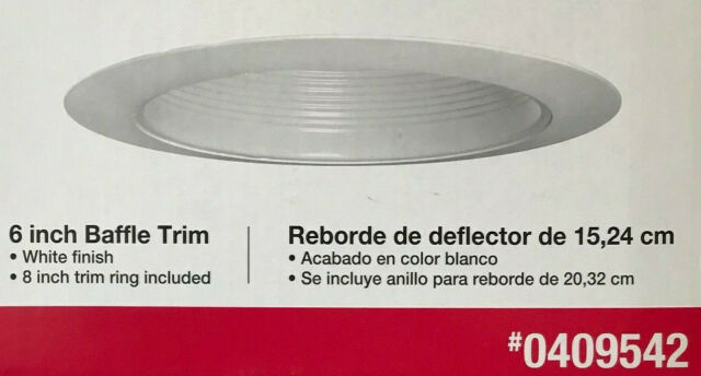 Utilitech 4in White Baffle Recessed Light Trims 6 SIX LWS14W