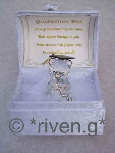 Grand diplôme Bear Premium Boîte Cadeau @ Glass@Card verset Scrolls@SCHOLAR Keepsake