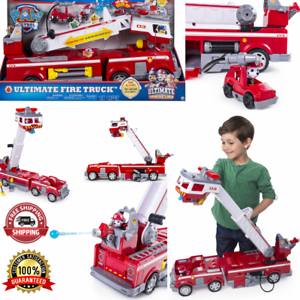 Ultimate Fire Truck With Extendable Tall Ladder Rescue Red Patrol Car Kids Toys