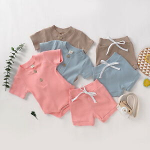 Newborn-Baby-Girls-Boys-Romper-Tops-Jumpsuit-Bodysuit-Pants-Shorts-Outfits-Sets
