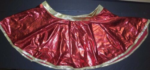 NWT Red Gold Foil Tap Skirt Circle Girls sizes Metallic Holiday Colors