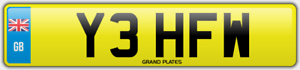 FW-Number-plate-INITIALS-Y3-HFW-CHERISHED-CAR-REGISTRATION-YEH-ROAD-LEGAL-REG