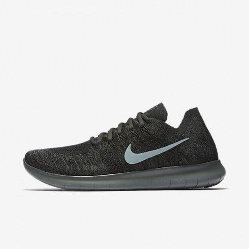 Nike Free RN Flyknit 2017 Black River Rock Grey 880843-012 Men's Running Shoes