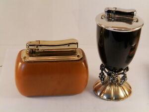 vintage-pair-colibri-massive-bakelite-butterscotch-kreisler-petrol-works-lighter