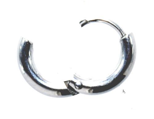 schmale runde Klappcreolen Edelstahl Creolen Kreolen 2,5mm//8mm Paarpreis Nr 1