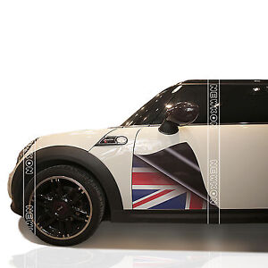 Union Jack Checkered Auto Car Door Trim Decor Sticker Decal For - Bmw mini cooper decals