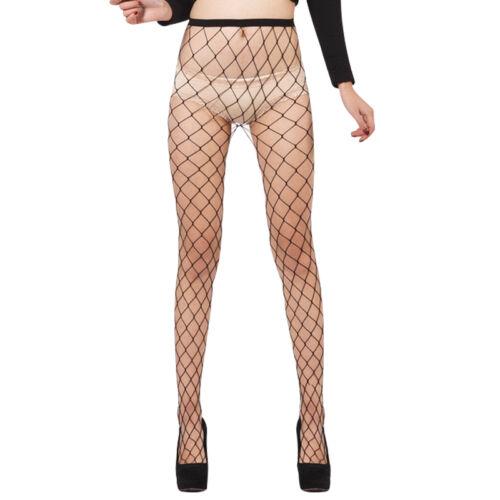 Women Ladies Fishnet Tights Stockings Pattern Burlesque Hoise Pantyhose Black LD