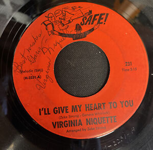 Virginia Niquette Popcorn / Northern Soul (I'll Give My Heart to You) Autograph