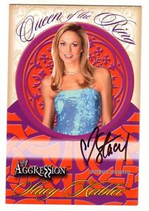 STACY-KEIBLER-Autograph-2003-Fleer-Auto-Queen-of-the-Ring-WWE-Aggression-4-x-6
