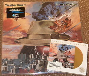 WEATHER-REPORT-HEAVY-WEATHER-DOUBLE-LP-45-RPM-ORG-amp-24-KARAT-GOLD-CD-AUDIOPHILE
