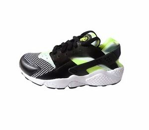 Nike - Womens Air Huarache Size 4.5 5 Trainer Shoe Black Volt New