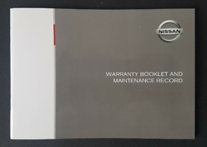 Genuine-Nissan-All-Models-Blank-Service-Book-Maintenance-Record