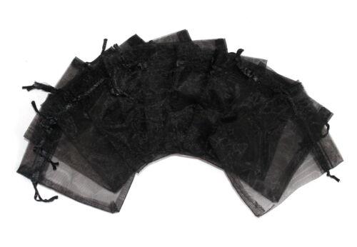 10 Organzabeutel 9 x 12 cm schwarz Geschenk Schmuck Geschenkbeutel Gothic Neu