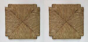 Art.031 D 2 pz Ricambio Sedile fondo Seduta per sedia in paglia 34 cm x 34 cm