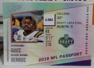 2018-PRESTIGE-NFL-PASSPORT-INSERT-ROOKIE-CARD-OF-DERRIUS-GUICE-NO-PP-DC
