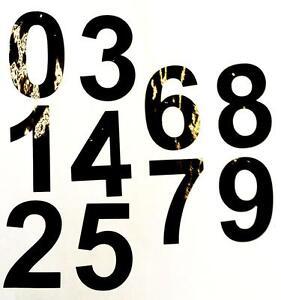 "100 BLACK SELF ADHESIVE VINYL NUMBERS 0-9 2/"" HIGH signs,menus,scrapbooks,sticky"