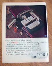 1964 Ford Galaxie 500/XL Convertible Ad Gues Man's Best Friend? Irish Setter Dog