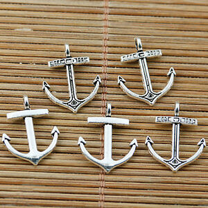 30pcs Tibetan silver nice anchor charms EF2036