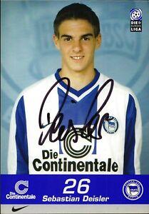 Sebastian Deisler - Hertha Bsc - Football Original Autograph (M-1067
