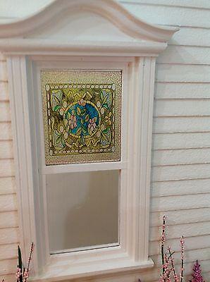 Belcher Style Fruit Bowl Dollhouse Miniature Victorian Stained Glass Window Film
