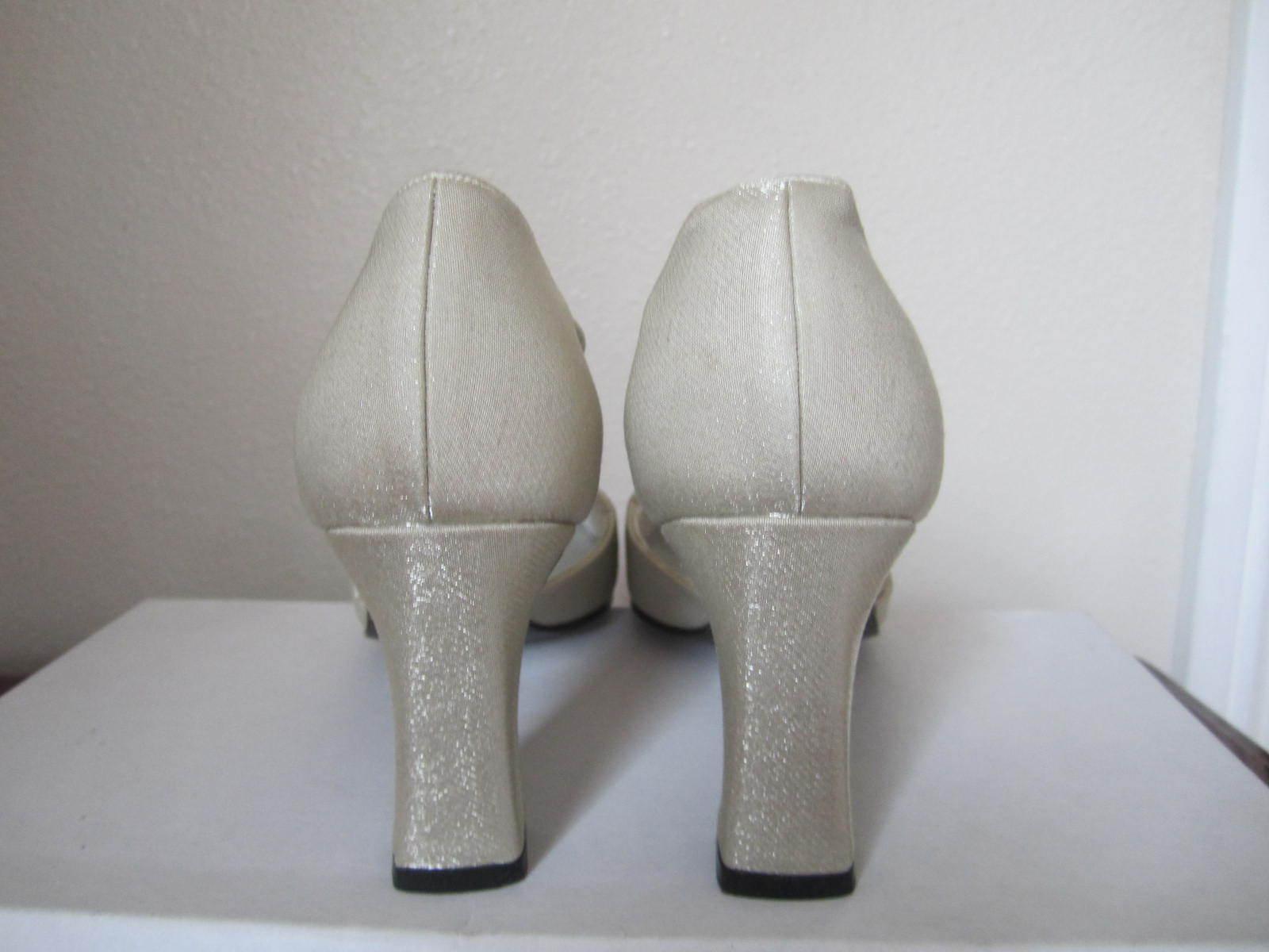 Stuart Weitzman schuhe Heels Fabric Print Strap Größe 5.5 5.5 5.5 Beige cdef58
