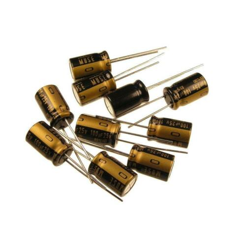 10 Nichicon Muse KZ Kondensator Premium grade Elko 100uF 25V for Audio 852402