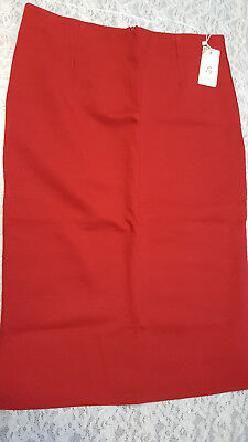Jeans Trustful Nwt Shshdhzx Women's Red Stretch Knee Length Back Zip/slit Pencil Skirt Sz 3xl Clothing, Shoes & Accessories