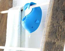 Baby Bath Tub Spout Cover Soft Rubber Moby Whale Blue Faucet Toy
