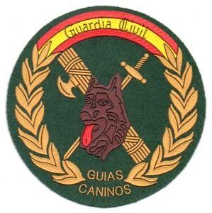 SPANIEN-GUARDIA-CIVIL-K9-POLIZEI-altes-Modell-Aufnaeher-Patch-Police