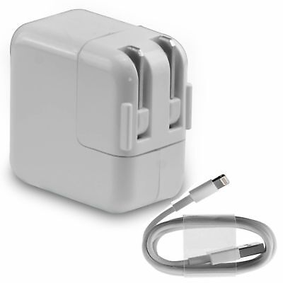 12W Power Adapter Wall Charger US Plug for Apple iPad 2 3 Air 1 2 iPhone /& Cord