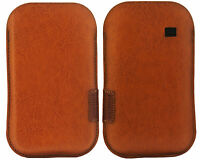 Genuine Samsung GT-S5830 Yellow Real Leather Case Cover Pouch for Galaxy ACE
