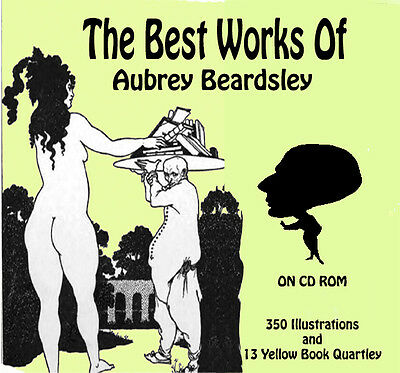 Vintage image  Aubrey Beardsley illustrations Art Nouveau +  Yellow Books on DVD