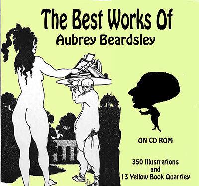 Vintage image  Aubrey Beardsley illustrations Art Nouveau +  Yellow Books on DVD