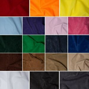 Faux-Suede-Fabric-Look-Suedette-Dressmaking-Polyester-Budget-150cm-Wide