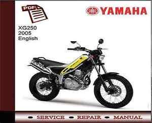 Yamaha Xg250 Xg 250 2005 Servicio De Taller Reparacion Manual Ebay