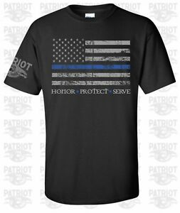 THIN-BLUE-LINE-FLAG-HONOR-PROTECT-SERVE-POLICE-LIVES-MATTER-COPS-OFFICER-T-SHIRT