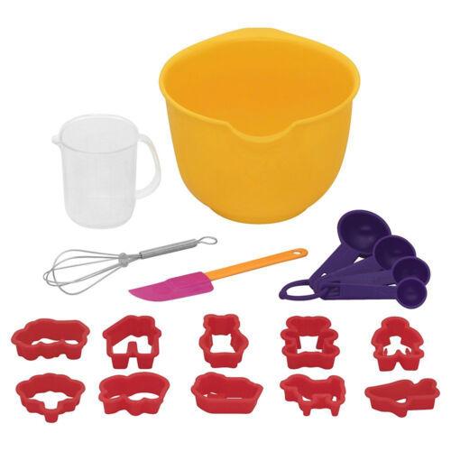 18pc Bakers Secret Little Kids Real Baking Mini Starter Supplies Set Children 5+