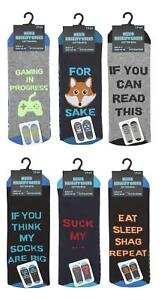 Mens-Novelty-Slogan-Design-Socks